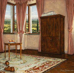 Le Scarpe del Cavaliere, acrylic on panel l, 34 x 35 cm - Collection Yvonne Melchers