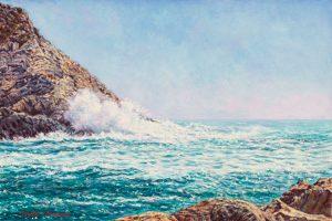 A Portovenere/Mediterranean Blues, oil on panel, 20 x 30 cm - Euro 995