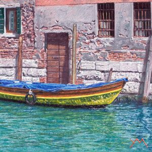 Reflections III/Spring in Venice, oil on panel 20 x 20 cm - Euro 1095