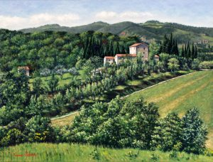 Castello Orgiale/Toscana (2002) - oil on linen - 30 x 40 cm - Sold