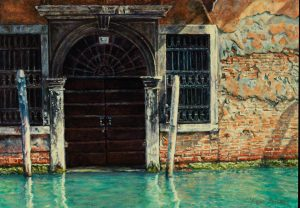 Once upon a time.../ Autumn in Venice, acrylics on panel 20,2x28.8cm (2010) - Sold