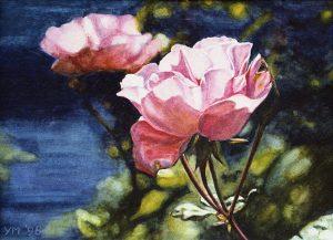 Dans le jardin du parfumeur (1998), watercolour 16,5 x 24 cm - Sold