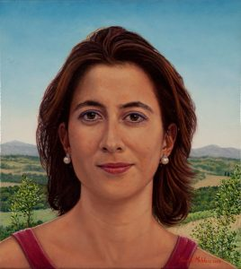 Elena, nr. 2 of the triptych 'An Italian Family' (2003, by commission), oil on linen, 36 x 40 cm - Sold