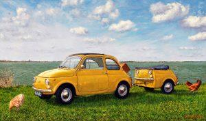 Enrico's Fiat 500 (2012, by commission) - oil on linen - 60 x 100 cm - Sold