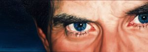 H's Eyes/Unfathomable blues, oil on linen 30 x 84 cm (currently available on Artsy through 33 Contemporary Gallery Chicago) US$ 2250