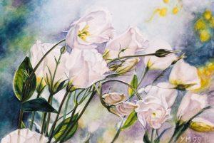 Harry's flowers (1998), watercolour 20 x 29 cm - Sold