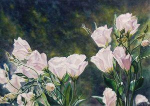 Harry's flowers (1999), watercolour 27 x 38 cm - Sold