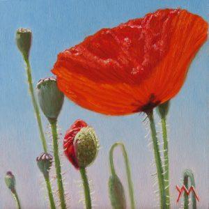 Yvonne Melchers, Spring Dance VI, oil on panel 14 x 14 cm