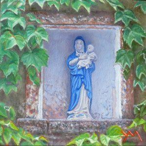 La Madonnina di Allegretti, oil on panel 14 x 14 cm (2020) - Sold