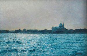 Il Redentore/Mattino Veneziano, acrylics on panel 20 x 30 cm - In a private collection