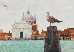 Il Redentore/Autumn in Venice, oil on linen 50 x 70 cm (2009) - Sold