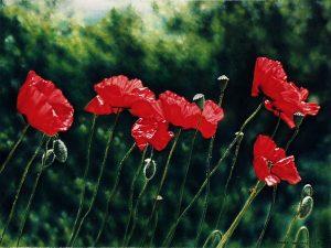 Nel giardino della Toscana (In the garden of Tuscany III) (1998), oilonlinen 30x40cm - Sold