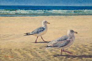 Jonathan & Son/North Sea Blues (2007), oil on linen, 40 x 60 cm - Sold