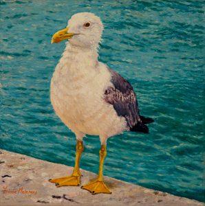 L'Adolescente/Venetian Blues, oil on linen 24 x 24 cm (2006) - Sold