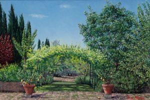 L'Orto di Francesca (2004) - oil on linen - 40 x 60 cm - Sold