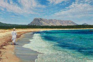 La Passeggiata/Mediterranean Blues & Emeralds, oil on linen 50 x 75 cm (2010) - Sold