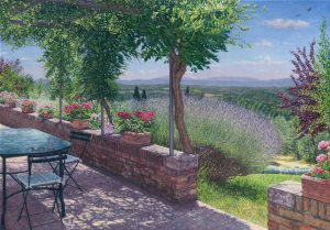 The Terrace/Tuscan Summer, oil on linen 70 x 102 cm (2009) - Collection Yvonne Melchers