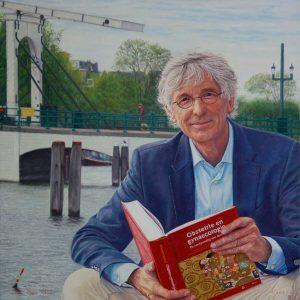 Prof. Dr. Maas Jan Heineman, oil on linen, 65 x 65 cm (2018) - Sold