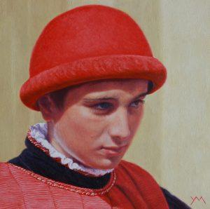 Siena Palio XV (Paggio Comune/Page Municipality), oil on panel 30 x 30 cm - Sold