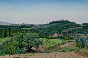 Montegiacchi/Spring in Tuscany, oil on linen 40 x 60 cm (2003) - Sold