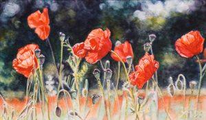 Nel giardino della Toscana II (1998), watercolour 15 x 25 cm - Sold