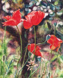 Nelle terre dei Ricasoli (2000), watercolour 20,5 x 16,5 cm - Sold