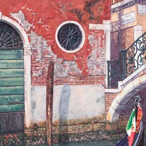 Ponte Giustinian/Autumn in Venice, oil on panel, 20 x 20 cm (currently in a travelling exhibition of Galería ArteLibre, Zaragoza SP)