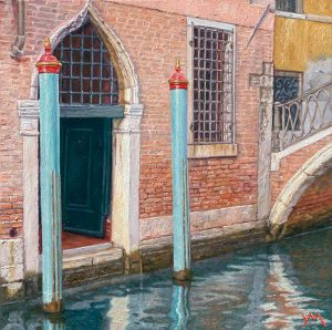 Reflections V/Autumn in Venice, oil on panel 20 x 20 cm - Euro 1095