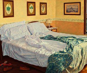 Room 32/Venetian Summer, oil on linen 75x90cm (2008) - Collection Yvonne Melchers