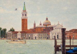 San Giorgio Maggiore/Autumn in Venice, oil on linen 50 x 70 cm (2006) - Sold