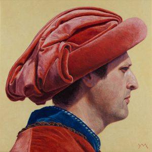Siena Palio IV (Comune/Municipality) (2014), oil on linen, 40 x 40 cm - Sold