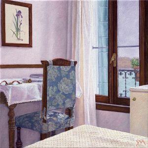 Yvonne Melchers Room with a View/Autumn in Venice II, oil on linen, 40 x 40 cm - Euro 2450