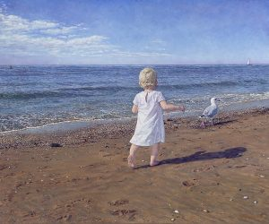 The Innocent/North Sea Blues (2010) (by commission), oil on linen, 100 x 100 cm (collections Emma Children's Hospital Amsterdam)