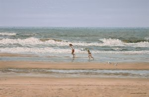 Summer Wind/ North Sea Blues, oil on linen 40x60cm (2000) - Sold