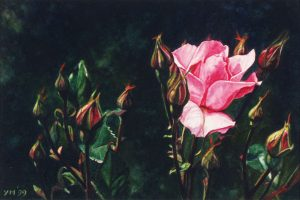 Temporale Imminente in Toscana (1999), watercolour 15,5 x 23 cm - collectie Yvonne Melchers