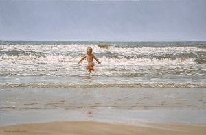 The little Man and the Sea/North Sea Blues, 40x60cm (2000) - Sold
