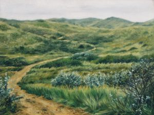 In the dunes near Egmond, oil on canvas 30x40cm Euro 950 (available at Gallery Rijlaarsdam, Nieuwkoop, The Netherlands)