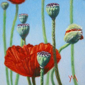 Yvonne Melchers, Spring Dance II, oil on panel 14 x 14 cm Euro 495
