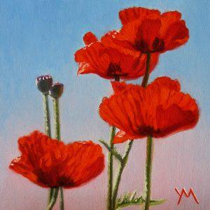 Yvonne Melchers, Spring Dance V, oil on panel 14 x 14 cm - Euro 495