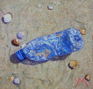 Washed Ashore/North Sea Beach IV, oil on panel, 15 x 15 cm - Euro 450 (currently available at Gallery Rijlaarsdam, The Netherlands)